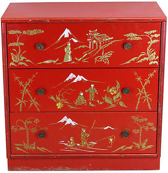 One Kings Lane Vintage Red Asian Style Chest of Drawers - Vintage Bella Home