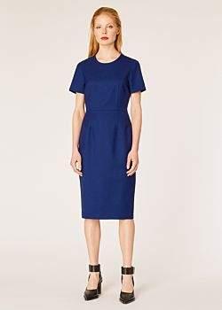 Women's Blue Wool-Twill 'A Dress To Travel In'