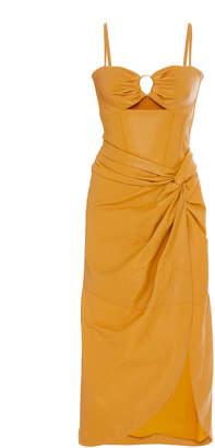Jonathan Simkhai Vegan Leather Bustier Dress Size: 0