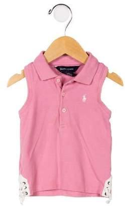 Ralph Lauren Girls' Sleeveless Polo Shirt