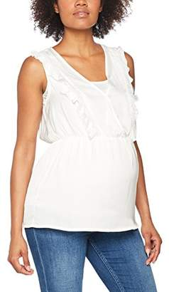 Mama Licious Mamalicious Women's Mlcherry Tess S/L Woven Top NF Maternity T-Shirt,(Manufacturer Size: M)