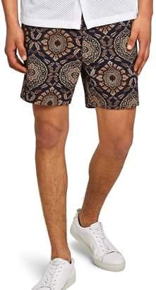 Topman Tapestry Print Chino Shorts