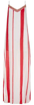 Vix Desert Vicky Red Stripe Maxi Dress