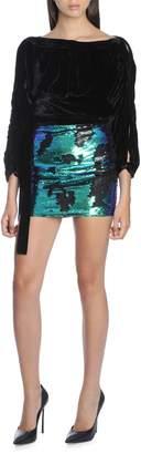 Amen Amw18316 Skirt In Bicolor Paillettes922