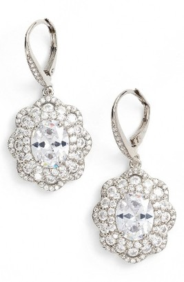 Women's Nina Vintage Drop Crystal Earrings $110 thestylecure.com