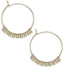Mizuki Women's 14K Yellow Gold Beaded Hoop Earrings