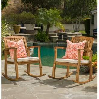 Beachcrest Home Coyne Acacia Rocking Chair