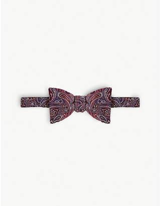 Eton Large paisley print silk bow tie