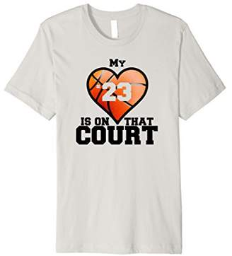 My Heart Is On That Court T-Shirt Basketball Mom Tee