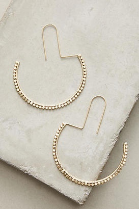 Anthropologie Half Moon Hoop Earrings $38 thestylecure.com