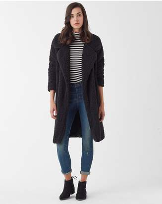 Splendid Super Soft French Terry Reversible Peacoat With Sherpa