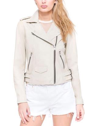 Andrew Marc Whitney Leather Moto Jacket