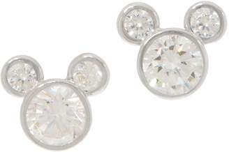 Disney Mickey's 90th Birthday Diamonique Mickey Studs, 14K Gold