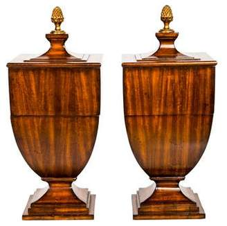 Maitland-Smith Pair of Pedestal Knife Boxes