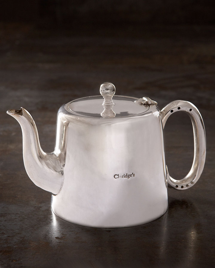 Horchow Silver-Plated Teapot from Claridge's, c. 1960