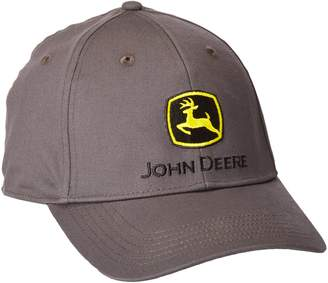 18c125f1200 John Deere Men s Stretch Band Cap Embroidered Logo