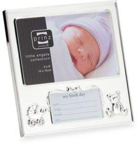 Prinz Birth Record 6-Inch x 4-Inch Picture Frame $12.99 thestylecure.com