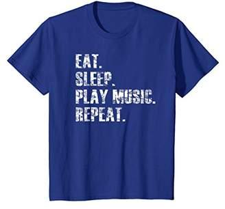 Eat Sleep Play Music Repeat Love Music Distressed T Shirt