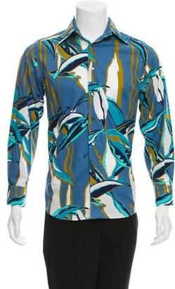 Dolce & Gabbana Abstract Print Button-Up Shirt