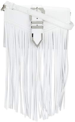 Versus Iconic Buckle fringed bag