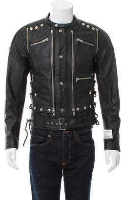 Faith Connexion Embellished Leather Jacket w/ Tags