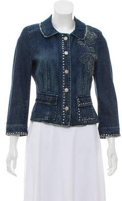 Philosophy di Alberta Ferretti Embroidered Denim Jacket