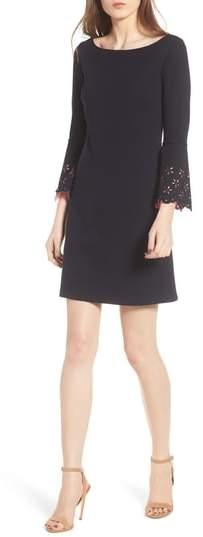 Daisy Eyelet Cuff Sheath Dress