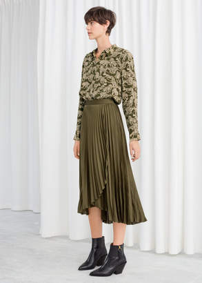 And other stories Pleated Wrap Midi Skirt