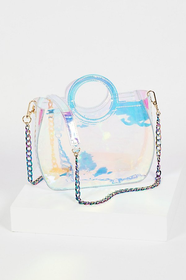 Rainbow Vinyl Tote by Free People