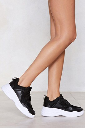 Nasty Gal Chunk Down With Me Sneaker
