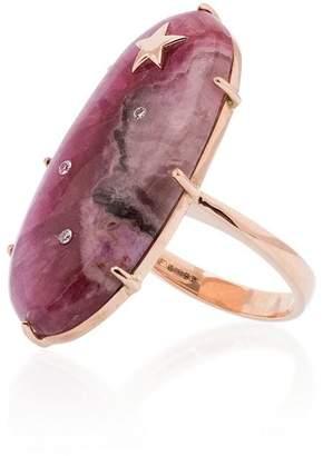 Andrea Fohrman Calcite Oval Diamond Ring