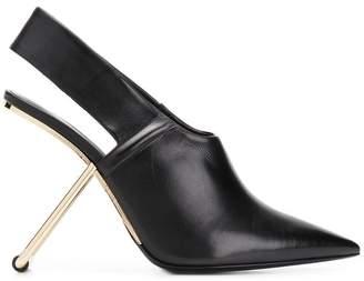 Poiret slingback pumps with sculputred heel