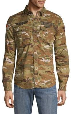 Superdry Camouflage Patchwork Button-Down Shirt