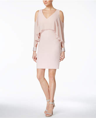 Calvin Klein Cold-Shoulder Popover Sheath Dress