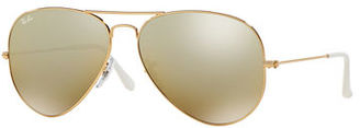 Ray-Ban Mirrored Flash Aviator Sunglasses $215 thestylecure.com