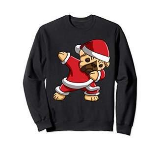 Dabbing Pug Santa T-Shirt Christmas Kids Boys Girls Gifts