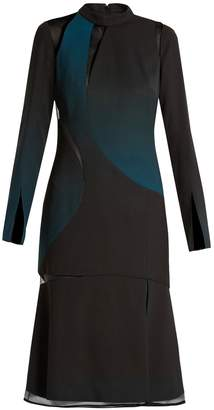 Versace Cut-out high-neck layered dress