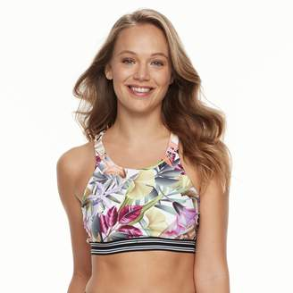 N. Women's Leafy Tropical Bust Minimizer Bikini Top