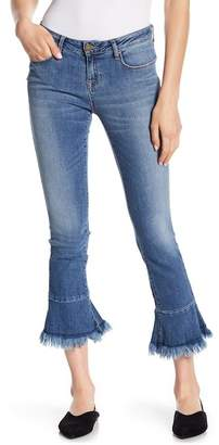 William Rast Flounce Cropped Flare Jeans