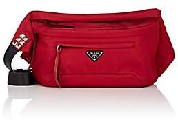 Prada Women's Leather-Trimmed Belt Bag - Red