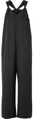 Hatch Noa Linen-blend Jumpsuit - Black