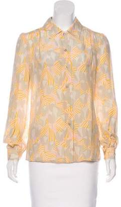 Tory Burch Silk Printed Top w/ Tags