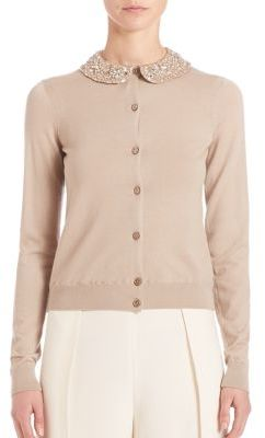 Ralph Lauren Collection Beaded Collar Cashmere Cardigan $2,690 thestylecure.com