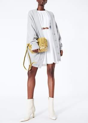 Tibi Mica Crepe Shirred Neck Dress