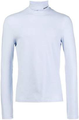 Calvin Klein turtle-neck fitted top