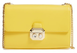 Ted Baker London Leather Crossbody Bag - Yellow $225 thestylecure.com