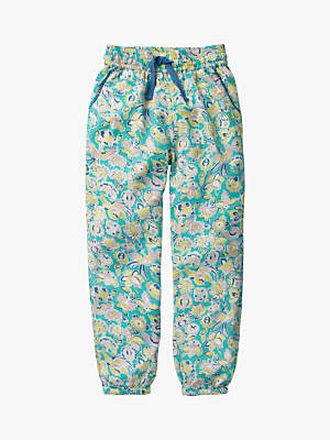 Boden Mini Girls' Relaxed Woven Trousers, Sea Tropical Paisley