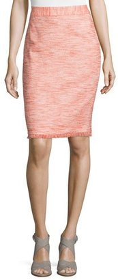 Trina Turk Frayed-Trim Tweed Pencil Skirt $228 thestylecure.com