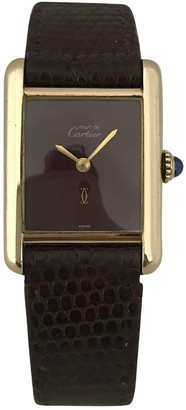 Cartier Vintage Tank Must Burgundy Gold plated Watches