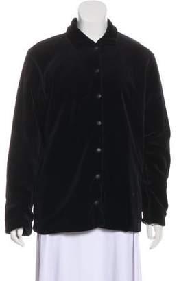 Sonia Rykiel Velour Notch-Lapel Jacket